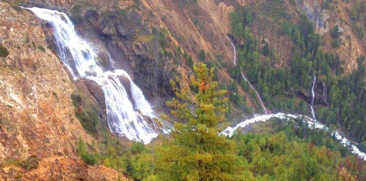 TRekking in Dolpo- the Phoksundo waterfall